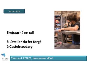Clément Roux, Ferronnier d'art