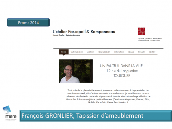 François Gronlier, Tapissier d'ameublement