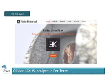 Olivier Layus, Sculpteur fer terre