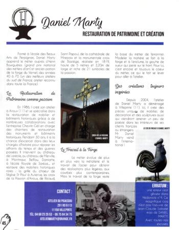 article ancien formateur Imara-Daniel Marty-magazine Hédoniste 2018
