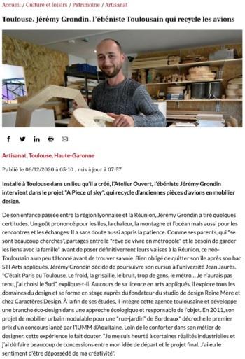 article la depeche-déc 2020-jeremy grondin-1
